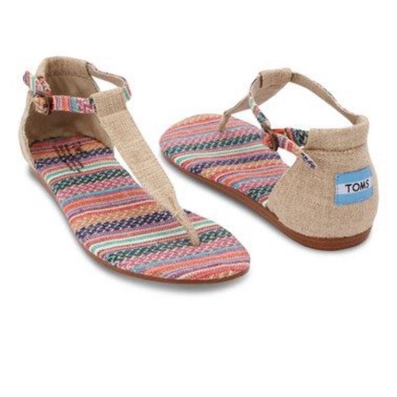 64a9763277c Toms Playa thong sandals SZ 9.5. M 5c3915490cb5aa27b58ef5ff